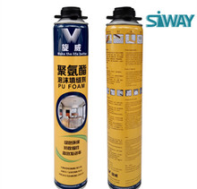large expansion PU Polyurethane waterproof foam sealant/pu sealant for glass