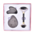 2019 Skin care Natural Crystal black obsidian roller set with gua sha