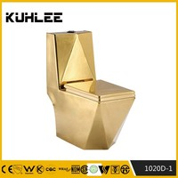 Bathroom Ceramic gold sliver color toilet item KL-1020D-1