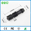 Mini Flashlight Aluminum Alloy Rechargable 7W 300LM Mini Led Flashlight