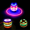 2017 LED Flashing UFO LED Gyroscope Novelty Wholesales Party Favors LED Spinning Top LED Peg-top