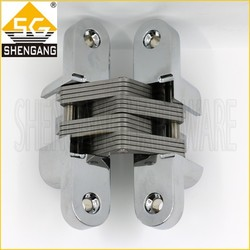 Polished chrome 180 degree Zinc alloy door hinges for pvc doors