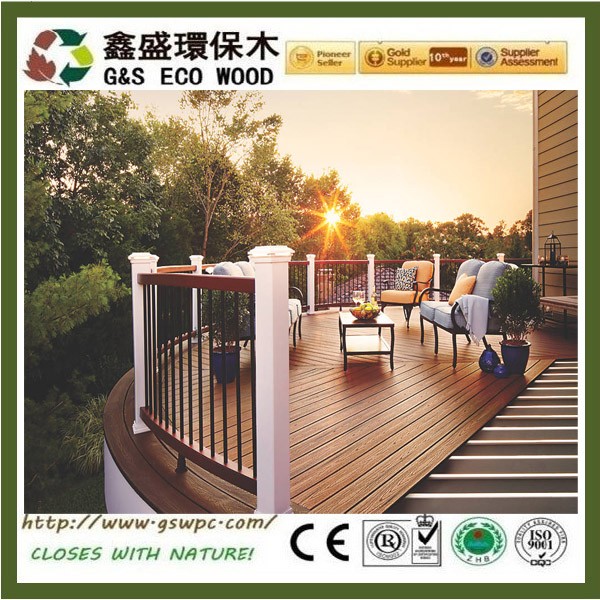 Recycled swimming pool outdoor waterproof wpc oak flooring anti-uv wpc decking
