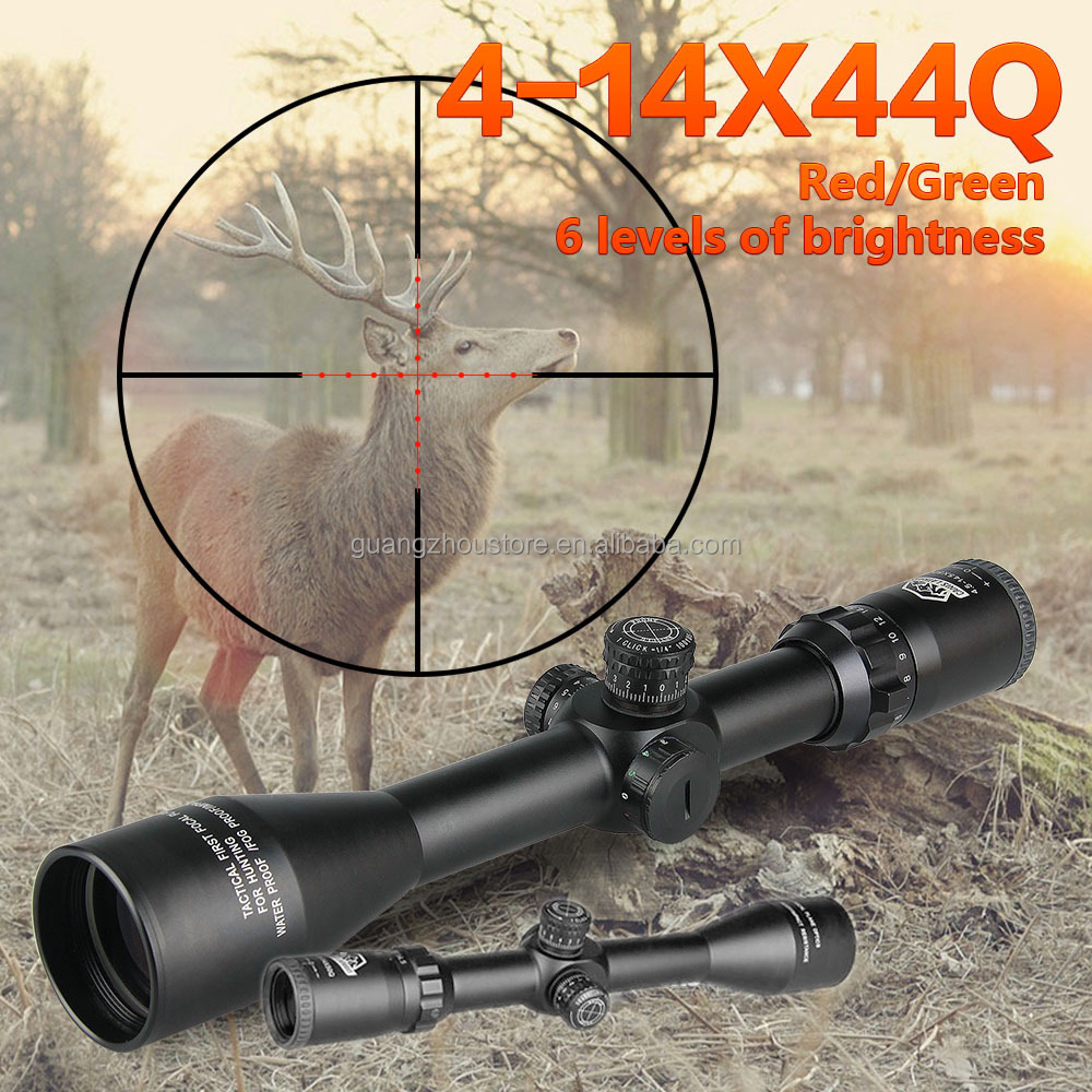 GZ10151 hunting gun rifle 4-14x44 riflescope optics mil dot reticle rifle scope outdoor equipment shockproof tactical sight