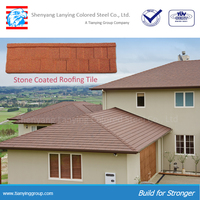 beautiful and classic stone coated steel roofing tile