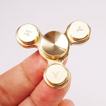 New arrival stainless steel hand spinner toy relieve stress tri-spinner