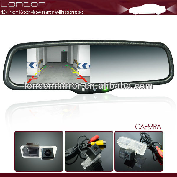 4.3 inch tft lcd mirror rear monitor hd 12V special for Toyota camry
