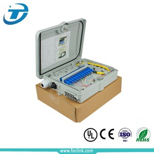 FTTH metal and plastic 24 port outdoor fiber optic terminal box 24 Fibers with lock
