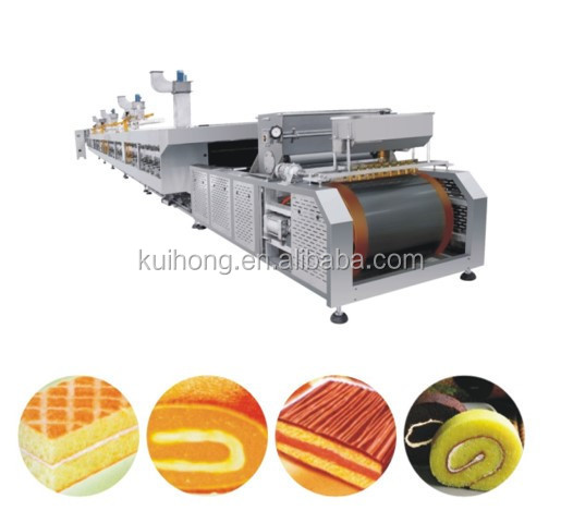 10%OFF HOT Sale KH-1000 full automatic roll cake production line / swiss roll machine price