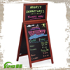 Top Sale Signboard Design For Restaurant Chalkboard, Advertising Folding Wooden Display with Writing Blackboard