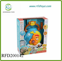 Electronic kid toy funny musical moon with light music baby projection toy