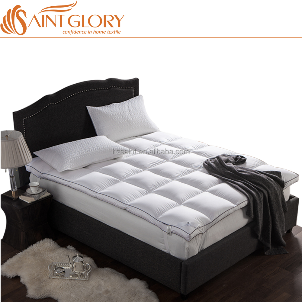 Saint Glory Hotel Wholesale Hypo allergenic soft queen layer goose down feather bed Feather Down Mattress Pad - Jozy Mattress | Jozy.net
