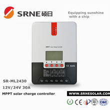SRNE 30A MPPT LCD solar charge controllers with rs232 communication interface