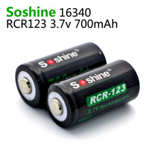Soshine RCR123 16340 Battery 700mAh 3.7V Rechargeable Lithium Li-ion Battery with Battery Case Storage Box