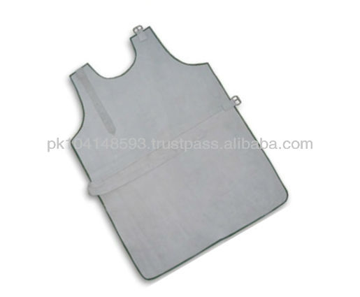 Welding Apron made of Grey split Cowhide Leather