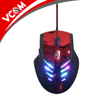 VCOM USB Wired Optical Rainbow LED Mouse with Factory Price