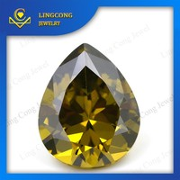 Water Drop Cz Pear Shape Zirconia Gems For Jewelry Making