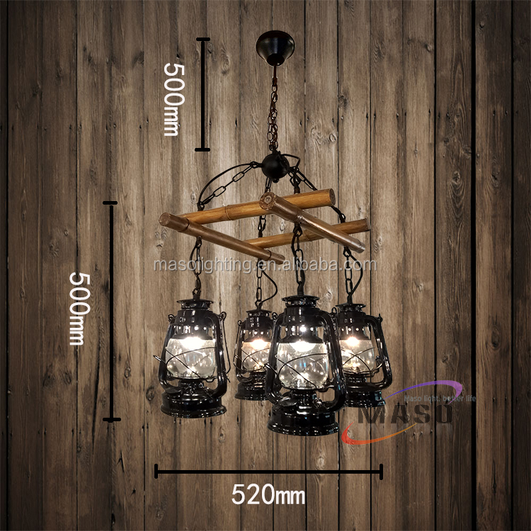 American Rustic Retro industrial resin pendant lighting chandelier Vintage Decorative Bamboo shape Hanging Lamp Made in China