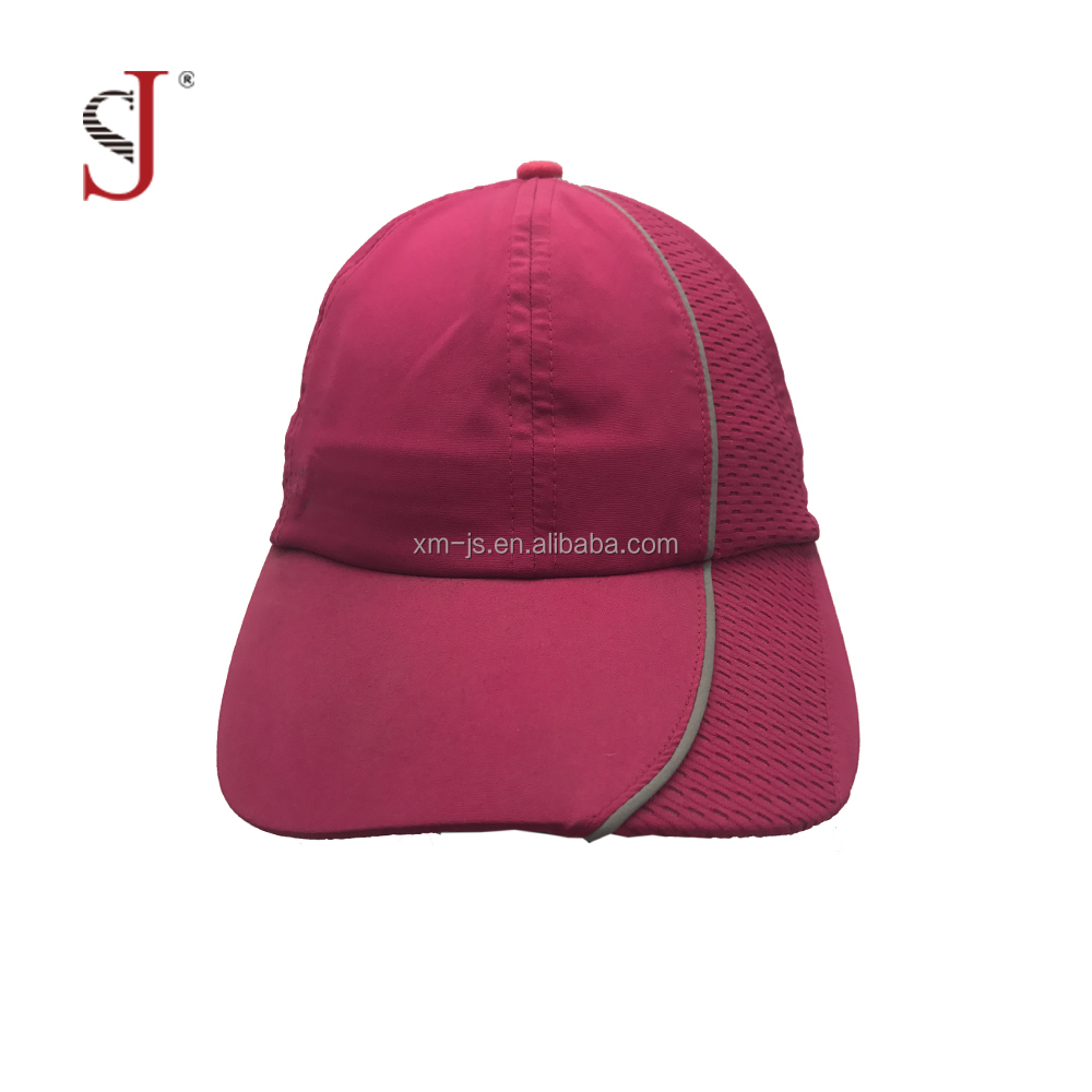 Custom Fabric The Peach Skin Red Hats Golf Hat Blank Dri Fit Hats Runing cap Sports Cap For Woman