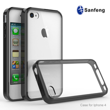 Compatible TPU Material smart mobile phone case cover for Apple iphone 4/4s