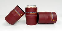 Foldable Blank Can Holder Neoprene Leather Can Cooler