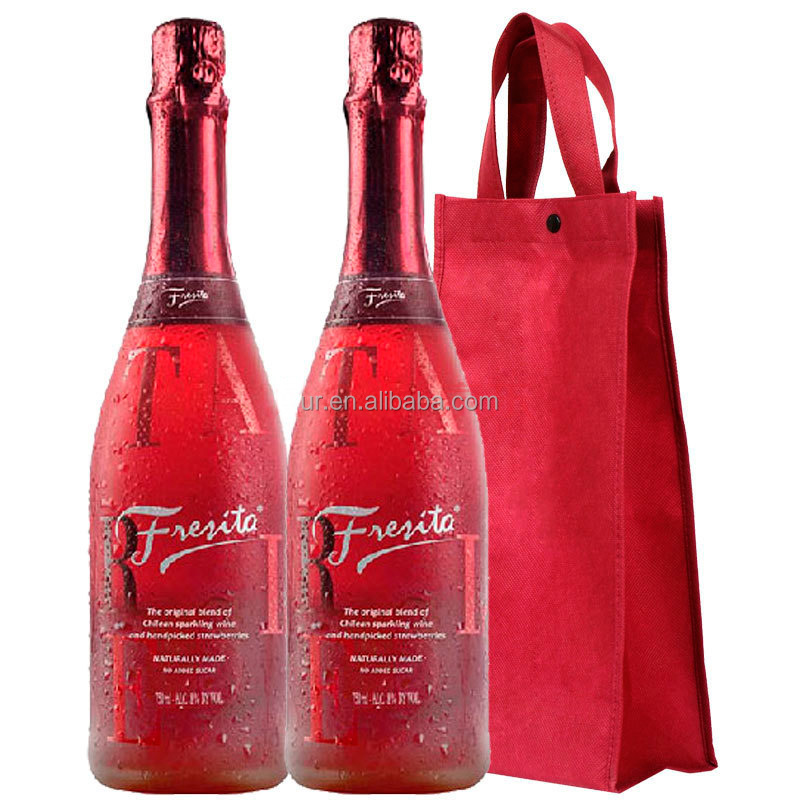 Wine glass bottle nonwoven fabric packing bag with artwork printing