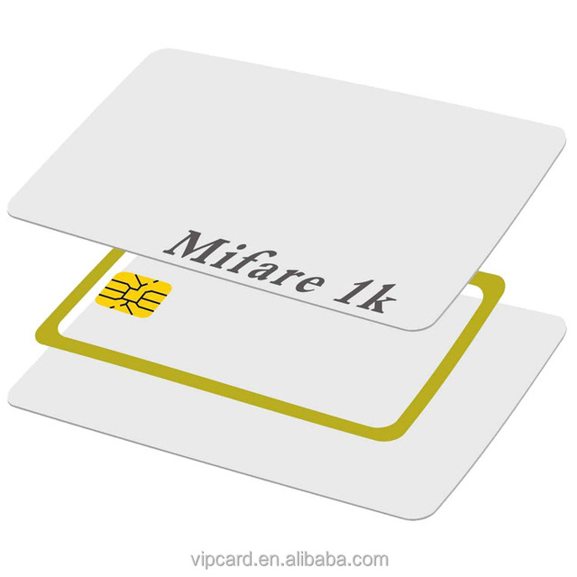 MI 1 blank chip card with custom printing