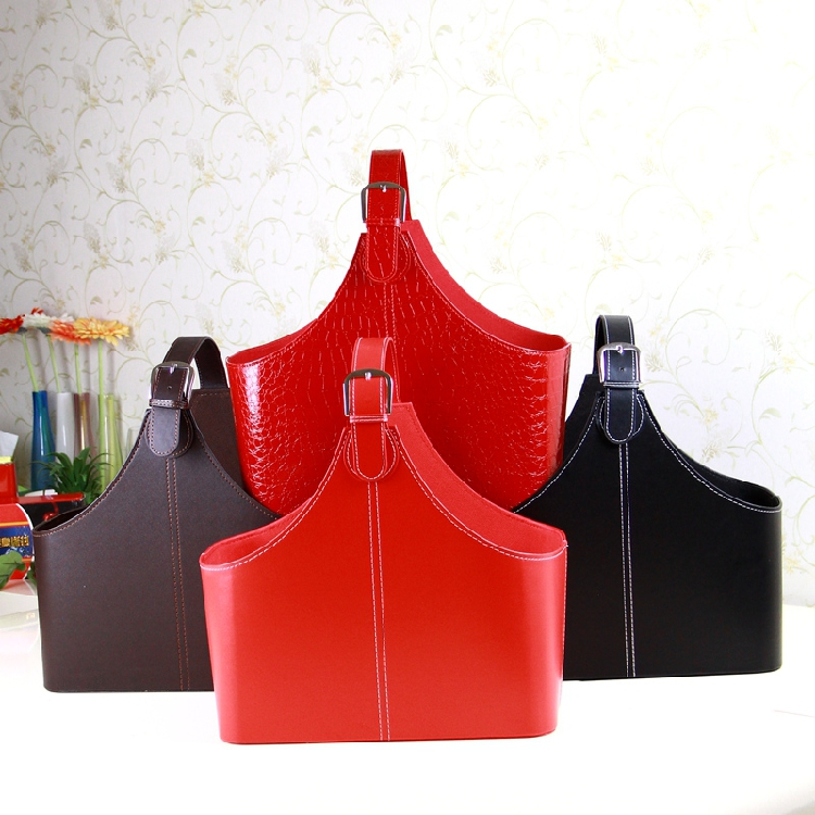 Red color good quality large storage baskets with lids for gift