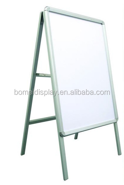 Outdoor metal snap frame poster board, customized pavement sign, aluminum A frame sign