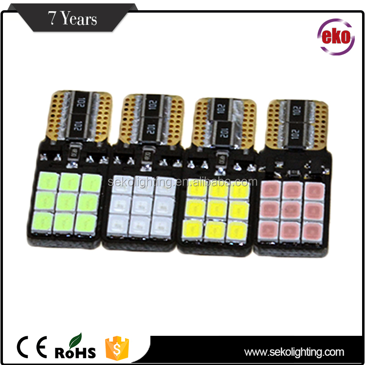 Ce Rohs Approval No-Polarity Energy Saving Canbus 18Pcs Automotive Car Socket Lamp T10 Smd Led 2835