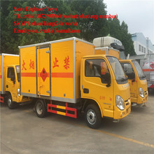 Dangerous goods van type transport truck YUEJIN 1 ton 2 tons mini flammable gas liquefied gas van transport van truck for sale