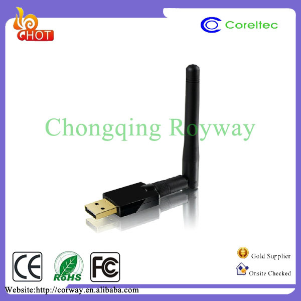2412~2483.5 MHz Mini 150m USB Wifi /USB Wifi Dongle With Rt5370 Chipset