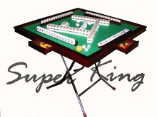 Mahjong Table Foldable Mahjong Table Wooden Mahjong Table with metal legs