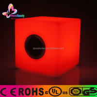 2014 New Arrival USB Bluetooth Mini Waterproof Cube Speakers For mobile phones tablet PC MP3 MP4 with led light remote control