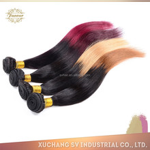 6A Two color brazilian hair,two color virgin brazilian hair extension,cheap ombre hair extension Straight Hair