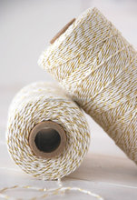 Metallic Gold and Silver Cotton Bakers Twine Gift Pack Twine Rope