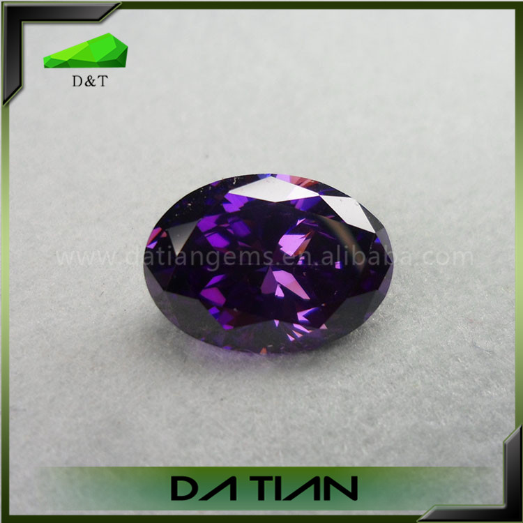 Cz europe machine cut synthetic diamond Grade aaaaa cubic zirconia oval cut voilet cz stones