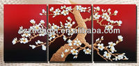 magnolia resin wall painting/decorative embossment wall painting