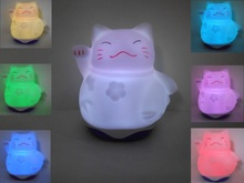 hot sale product MINI USB CAT LED night light with color changing