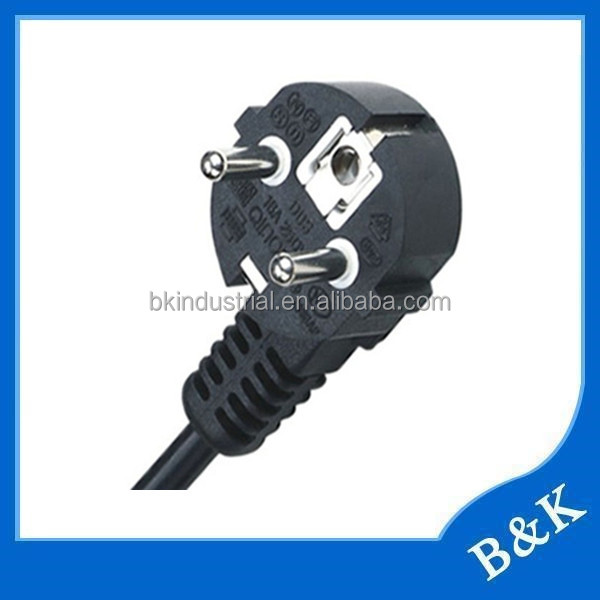 Philippines power cord with male female plug with ISO9001