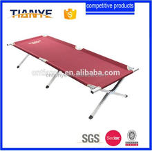 Aluminum lightweight cot bunk double portable folding camping bed