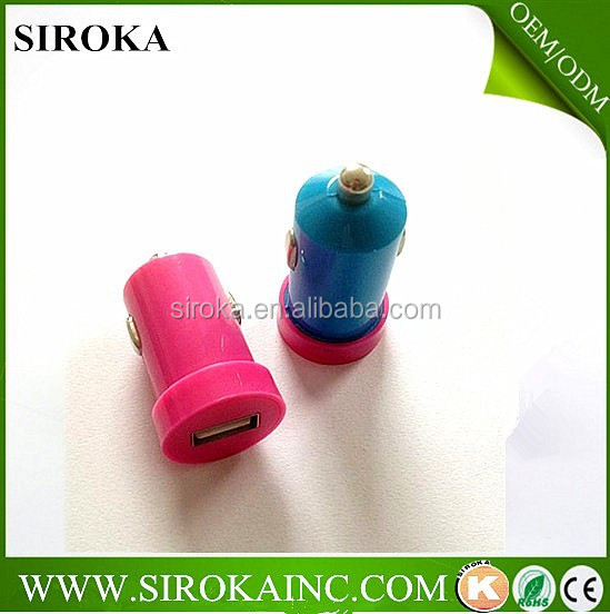 Universal Mini Dual Usb Car Charger with 5v 1000mA Output For Free Logo Printing for callphone