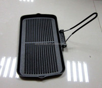 Cast Iron Grill Pan With Folding Handle, Cast Iron Griddle Pan