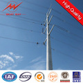 galvanized overhead line transmission steel pole for African structure