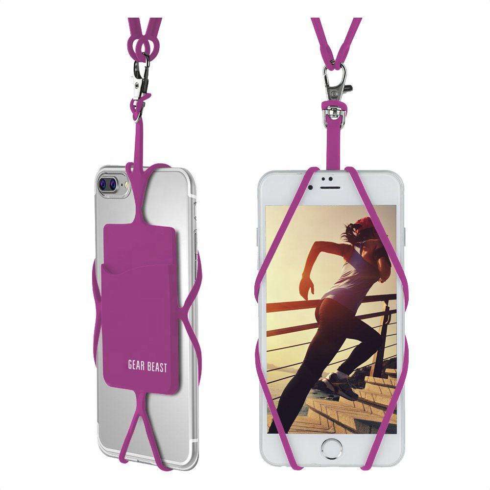 Universal Compatível Com a Caixa Do Telefone Titular Silicone Lanyard Correia de Pescoço Caso Do Smartphone - ANKUX Tech Co., Ltd
