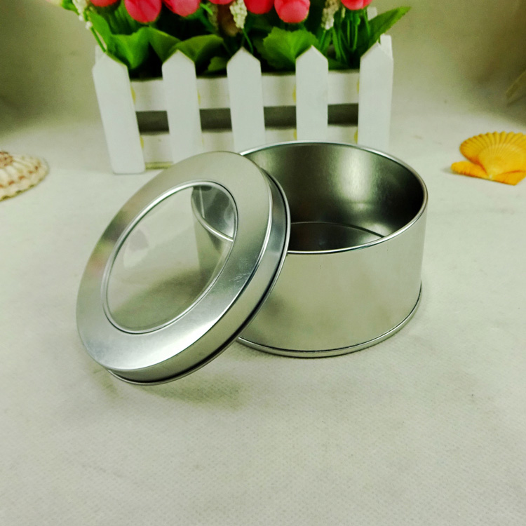 Small round gift tin box for chocolate