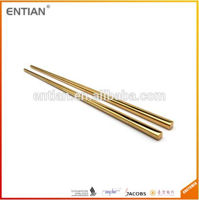 Gold Plated Telescopic Chopsticks, Steel Chopsticks