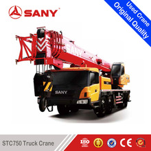 SANY STC750 75 Tons 2013 Year Used Truck Mounted Crane of Second Hand Mobile Crane