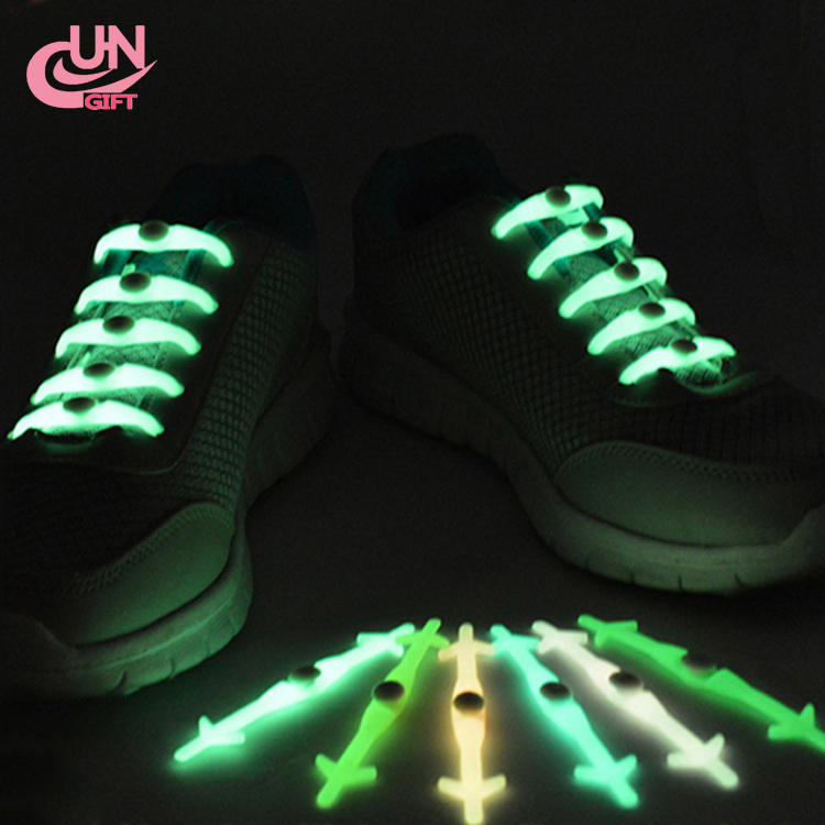 Shoelaces Novelty No Tie Unisex Elastic Silicone LED Shoe Lace For Sneakers