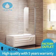 One panel glass folding shower screen with aluminum profile JP103